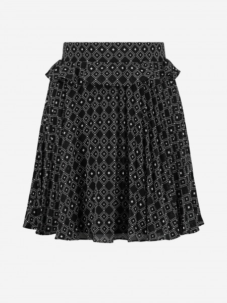 Skirt with graphic print