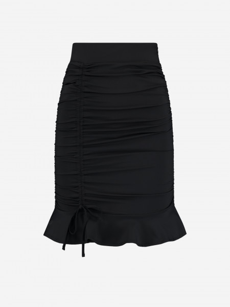 FITTED SKIRT WITH RUFFLES