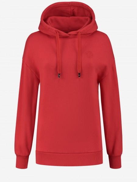 Red hoodie with N-artwork