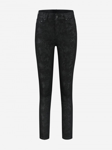 SKINNY JEANS WITH SNAKE PRINT