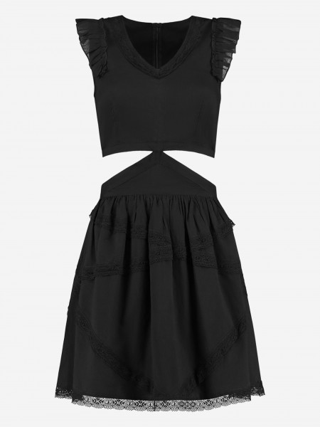Dress with cut out details