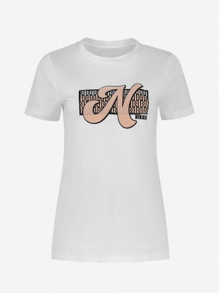 T-Shirt met N artwork