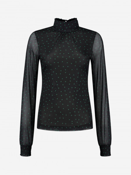 Mesh top with star print