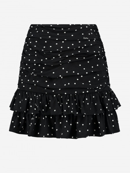 Ruffle skirt with dots
