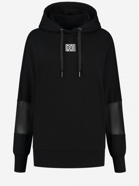 Hoodie with mesh details