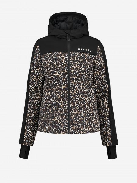 Leopard print Ski Jacket