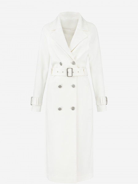 COAT WITH BUTTONS AND BELT