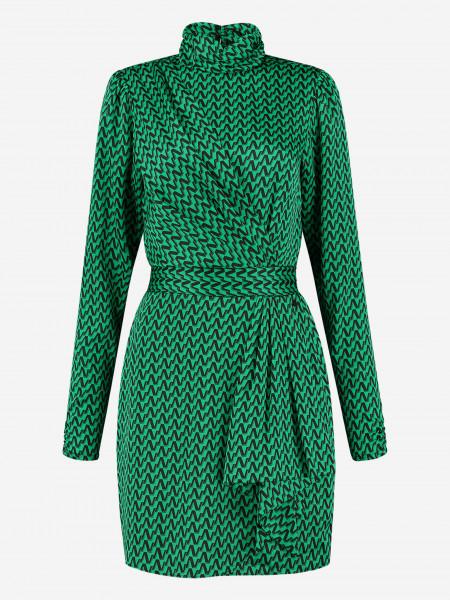 jurk met grafische print