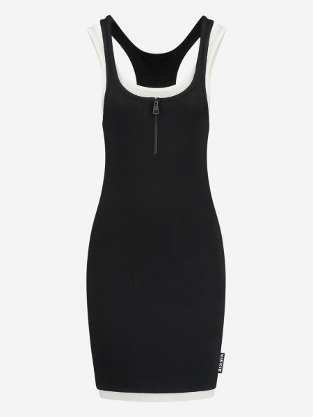 RIB DRESS WITH TWO LAYERS
