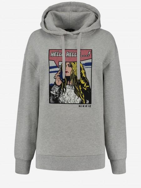 Grey hoodie with artwork