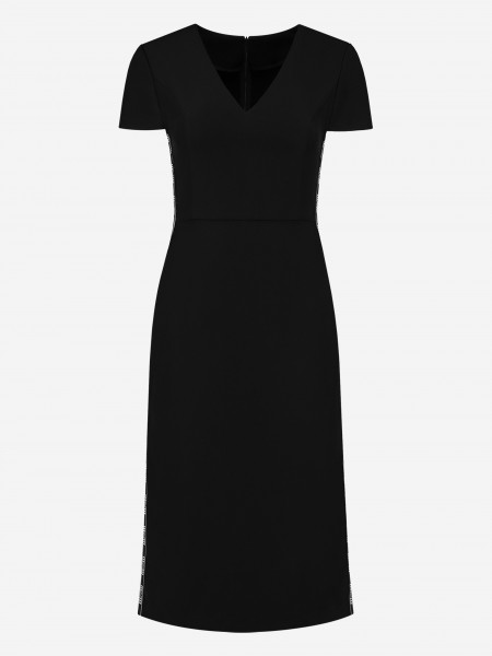 FITTED DRESS WITH N LOGO STRIPE