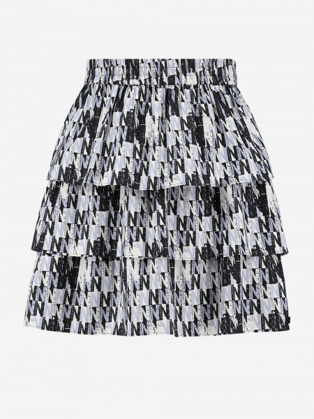 SKIRT WITH ALL-OVER N PRINT