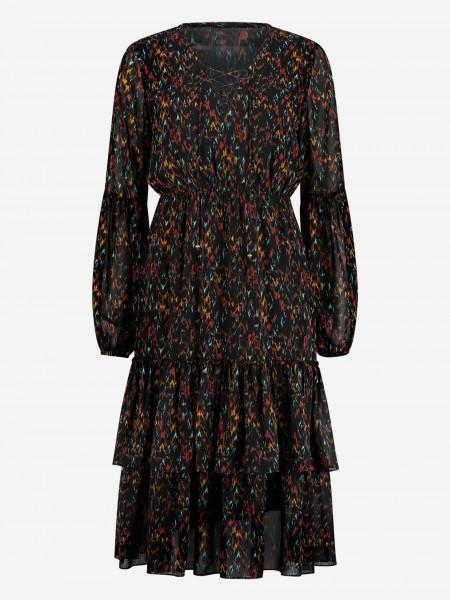 Long sleeve dress with ruffles