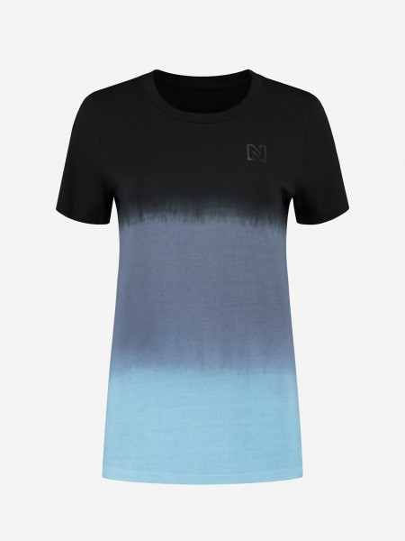 Blauw dip dye t-shirt