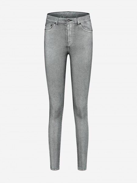 Skinny jeans with metallic coating