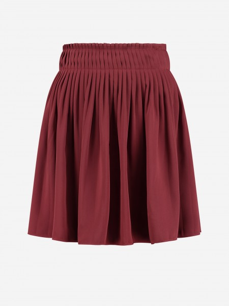 Pleated skirt with zipper at the back