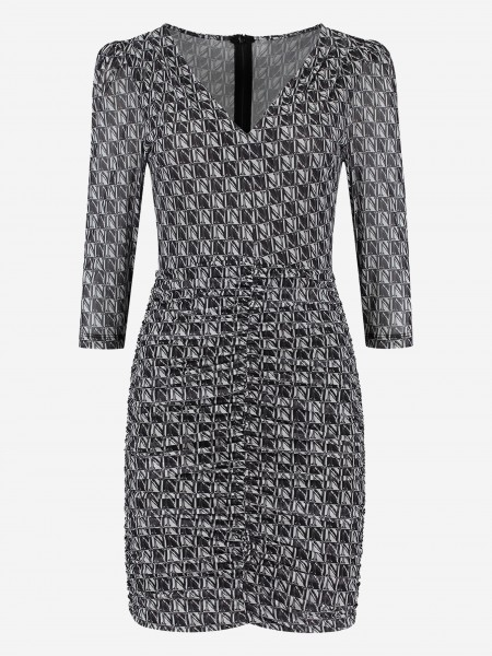 DRESS WITH ALL OVER N PRINT