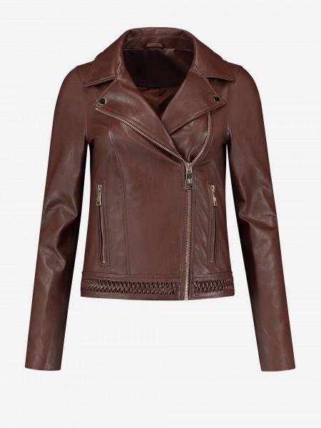 Braided biker jacket