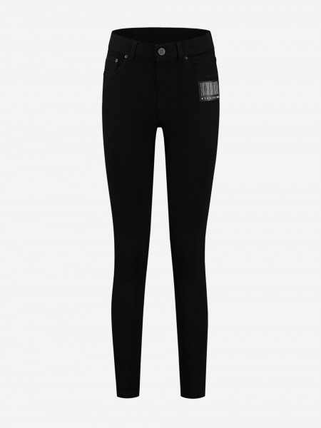 Skinny jeans with barcode