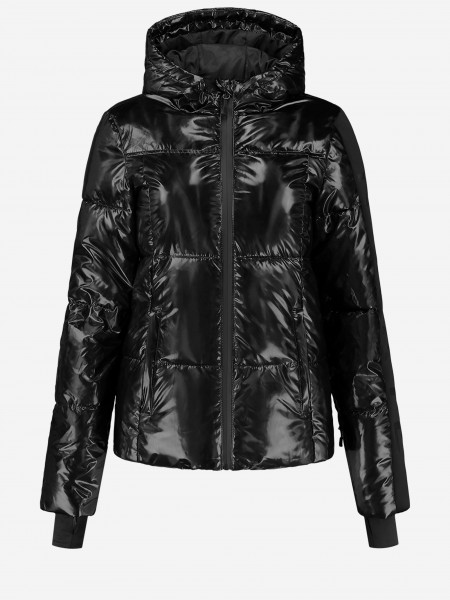 Zwarte ski jas met NIKKIE logo