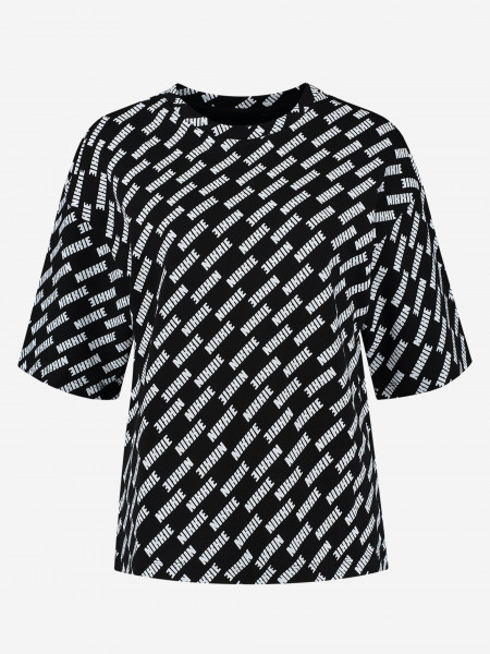 T-shirt with all over logo print