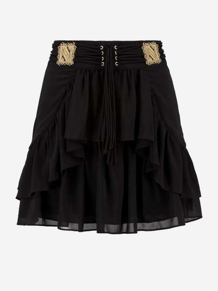 Black Skirt with lace details