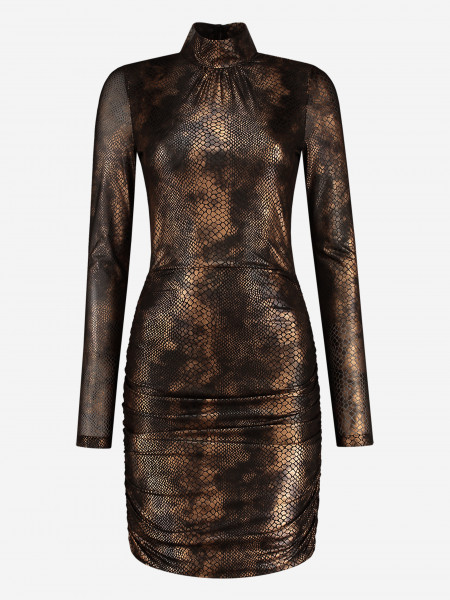 Tight dress with snake print