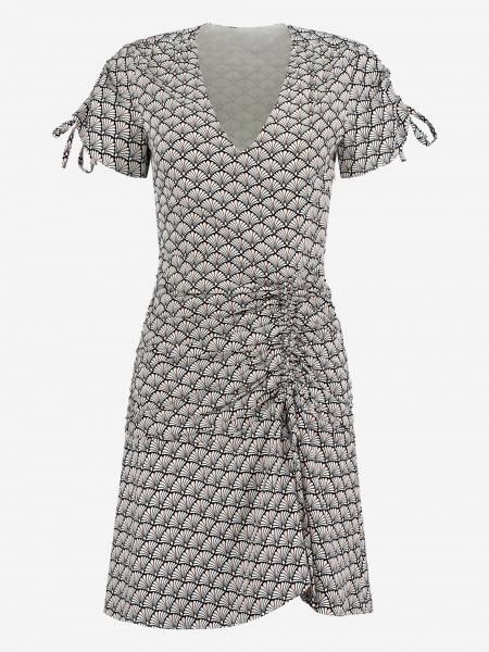Dress with sea shell print