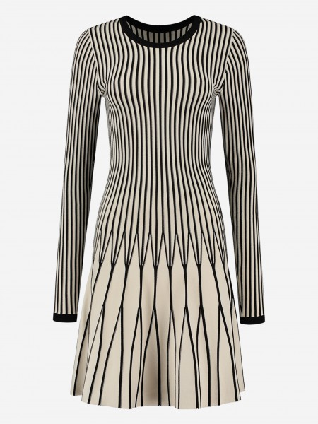 Dress with graphic stripes