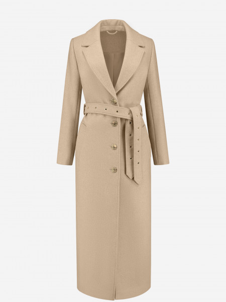 Long coat with golden buttons