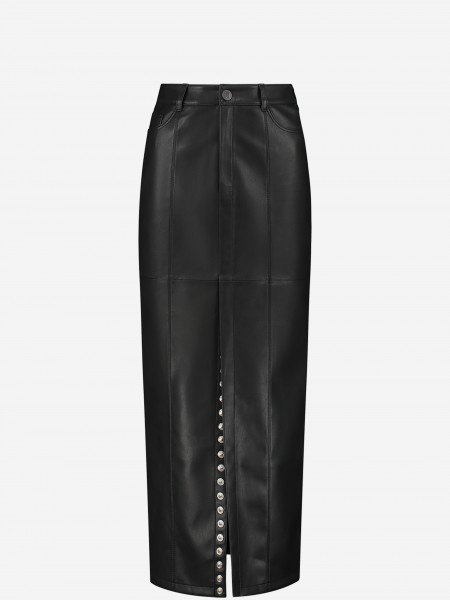 SKIRT WITH SPLIT AND STUDS
