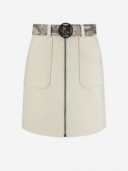 Soft skirt with snake belt