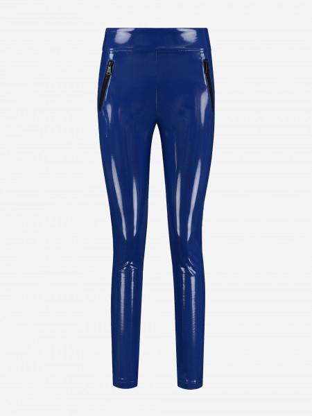 Blauwe Vegan Lakleren broek