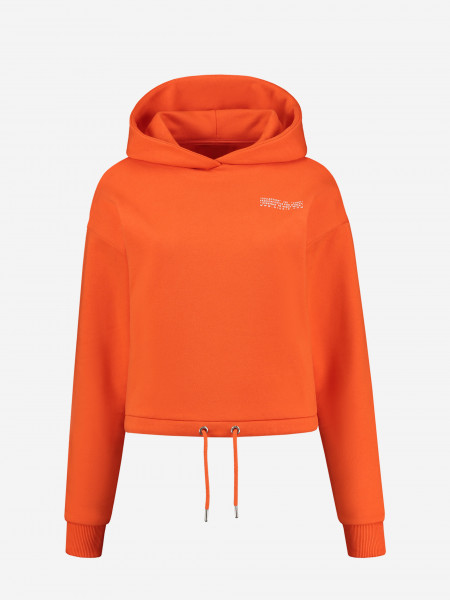 Cropped hoodie with string