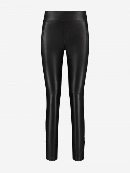 Vegan leather pants with golden details