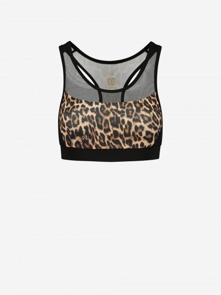 Sports bra with leopard print