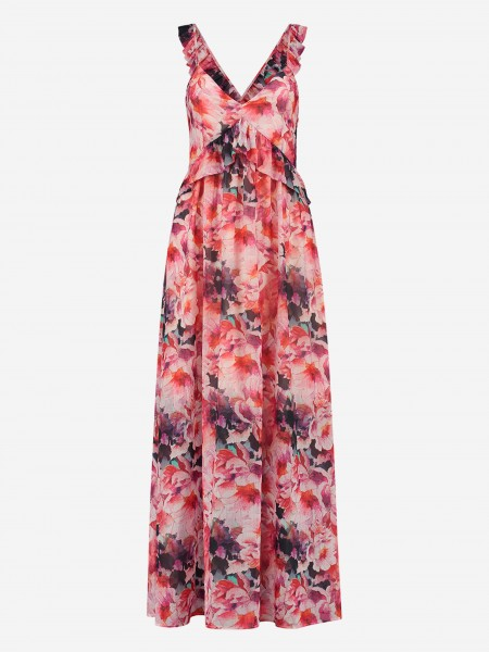 MAXI DRESS WITH ALL OVER FLOWER PRINT