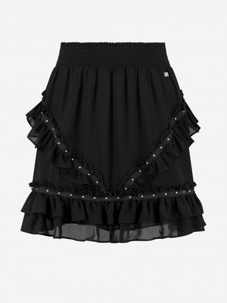 Black skirt with ruffles and studs