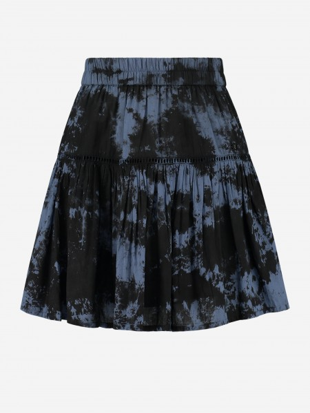 Blue tie dye skirt