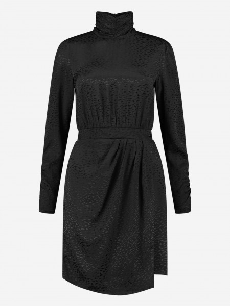 Short dress with leopard print