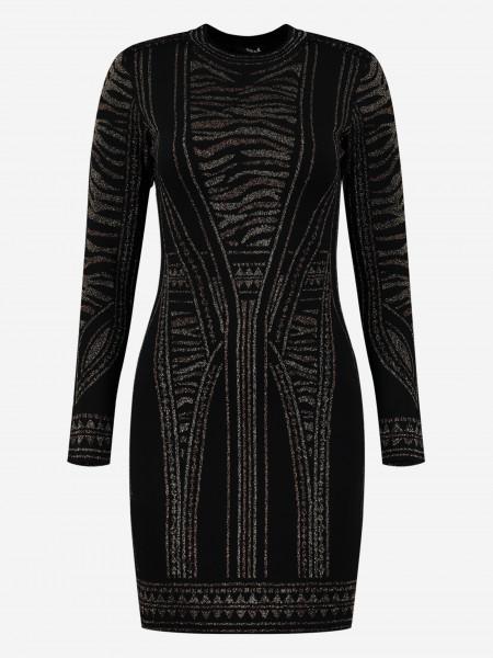 Aansluitende glitterprint jurk