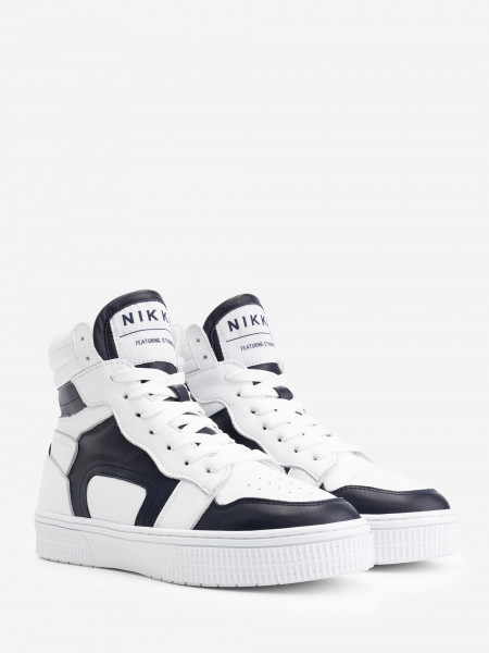 High leather sneakers with NIKKIE logo