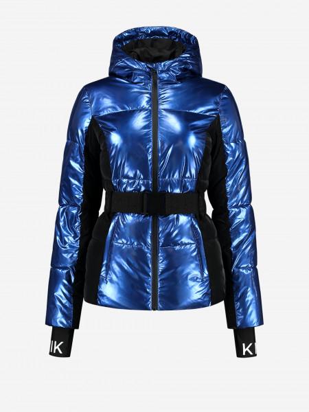 Blue Metallic Puffer coat