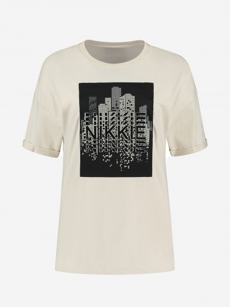 T-shirt met skyline