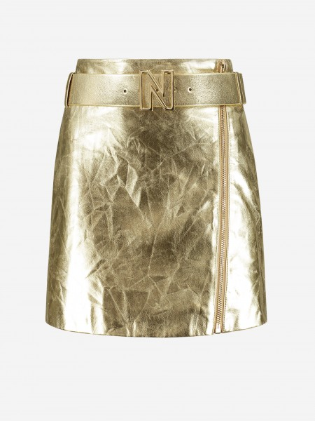Golden skirt with N logo belt