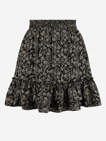 SKIRT WITH RUFFLES AND ALL-OVER PRINT