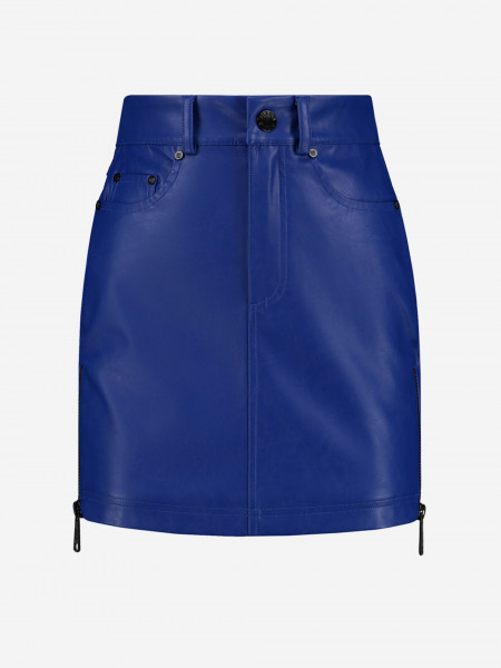 Vegan Leather Mini Skirt with zippers