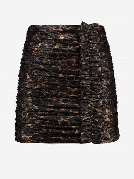 Ruffled Leopard mini skirt