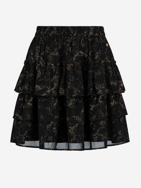 A-lijn mini rok met goud