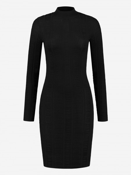 Black dress with NIKKIE logo embroidery